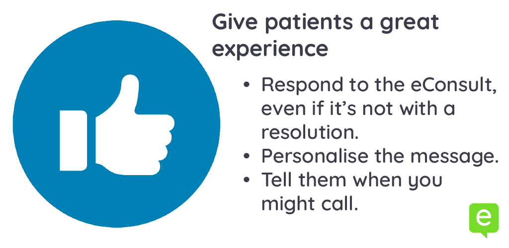 Image with 3 ways to give patients a great experience - patient education